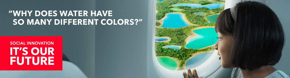 Why does water have so many different colours?