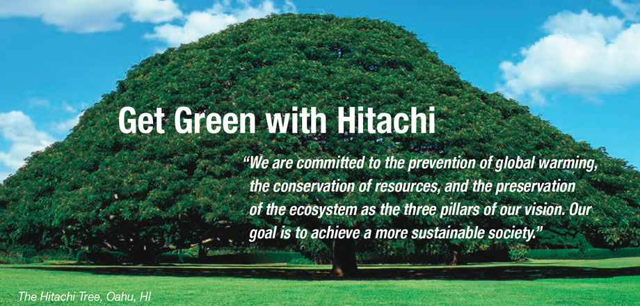 Environmental Vision and Commitment - Get Green with Hitachi
