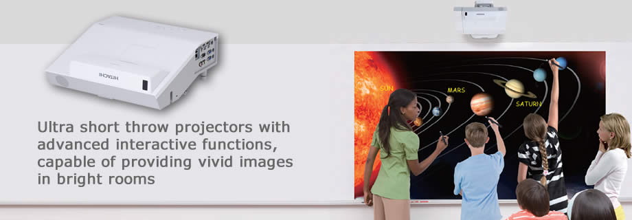 Interactive Ultra Short Throw Projectors