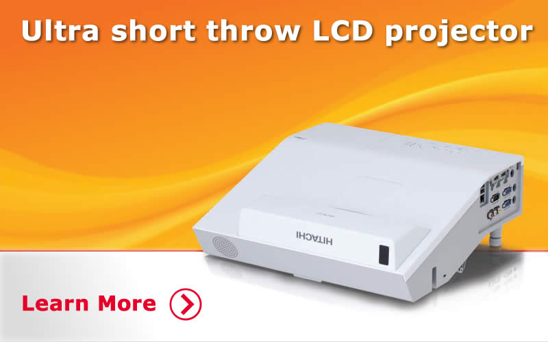 Ultra Short Throw Data Projectors. Learn More