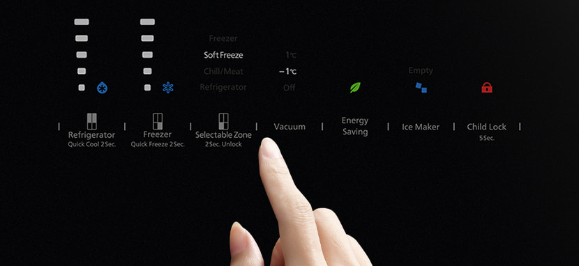 Flat glass panel controls